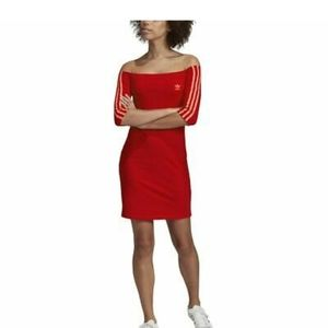 Adidas shoulder dress red brand new